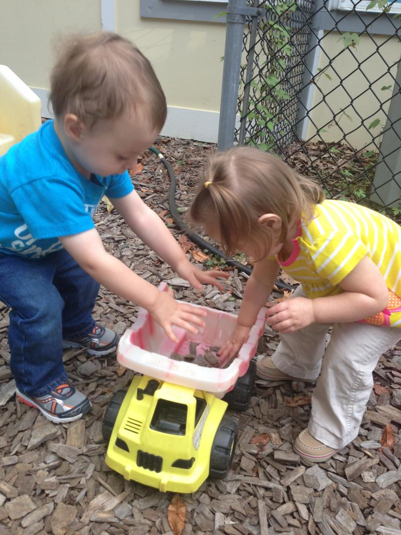 we are learning ot grow in the Kiddie Garden!